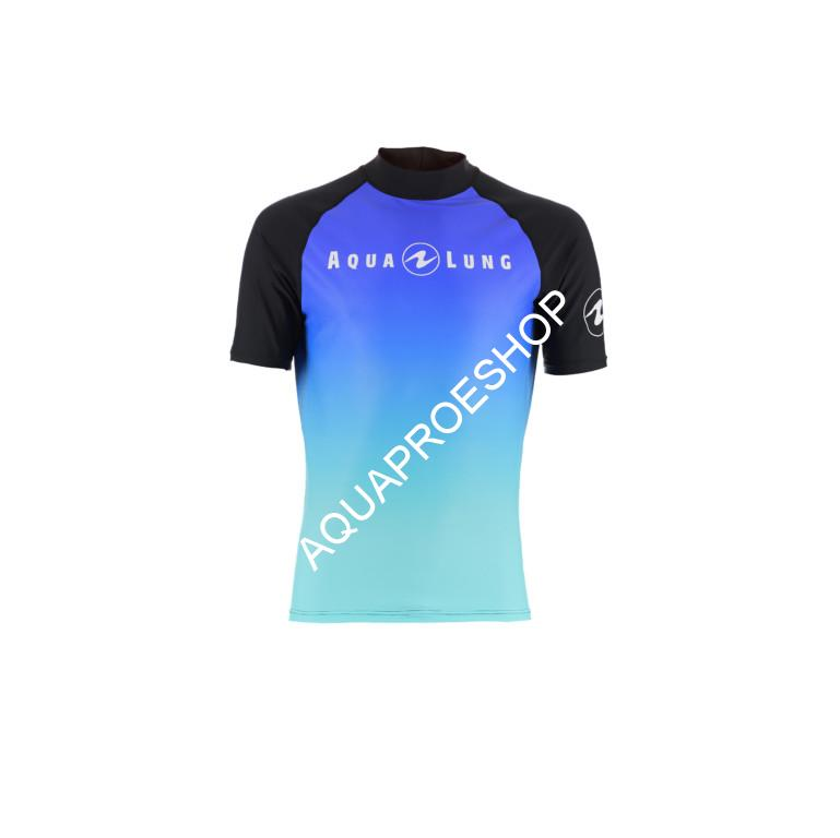 Aqualung FROZEN BLUE RASH GUARD MEN SHORT SLEEVE