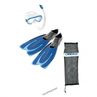 Cressi SET AGUA BAG BLUE
